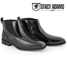 Stacy Adams Winslow Leather Ankle Boots - Black - Men's 14