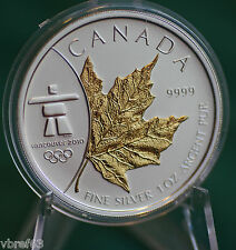 2008 CANADA $5 Gold plated Silver Maple Leaf from 3 coin Olympic set
