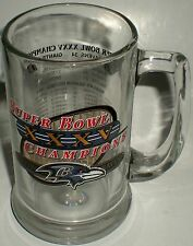 BEER DRINKING GLASS MUG SUPERBOWL FOOTBALL XXXV STATS PLAYOFF RECORD RESULTS 01