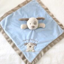 CARTERS Baby Boys Blue Puppy Dog Security Blanket Mommy Loves Me Rattle Lovey