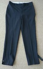 Twiggy for M&S Collection Size 10 Grey Wool Tailored Slim Leg Trousers 28L Bnwt