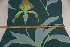 Cole & Son Wallpaper ORCHID design teal blue ground STUNNING Sold by roll