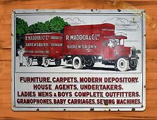 "TIN-UPS TIN SIGN ""Maddox Movers"" Rustic Home Advertisement Furniture Wall Decor"