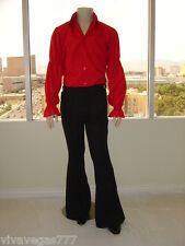 Elvis (BLACK) Kick-Pleat Pants Trousers (Tribute Artist Costume) Jumpsuit Era