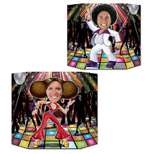 Disco Dancers Double Sided Photo Prop - 94 cm - 1970's Dancing Party Decoration