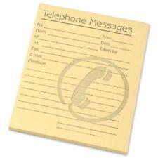 Paquete De 10 mensaje telefónico teñida de amarillo/teléfono Memo Almohadillas 80 hojas por Pad
