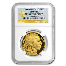 2008-W 1 oz Proof Gold Buffalo Coin - PF-70 UCAM NGC - SKU #61900