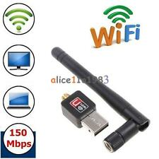 Mini 150Mbps USB WiFi Wireless Adapter Dongle LAN Card 802.11n/g/b w/Antenna