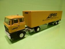 LION CAR 58 36 DAF 2800 TRUCK + TRAILER - IPEC EXPRESS FREIGHT SYSTEM - 1:50 GC