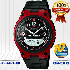Casio AW-80-4BV Men's Sport Watch 10 Year Battery 50M WR LED Light Telememo New