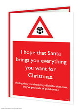 Brainbox Candy Rude 'Massive Dildos' Christmas Xmas Card funny cheeky humour