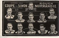 BM299 Carte Photo vintage card RPPC Groupe Foot Ball Rouen-Normandie Coupe Simon