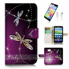 Samsung Galaxy S6 Flip Wallet Case Cover! P1844 Dragonfly