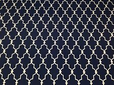 "BRYANT GARDEN GATE NAVY BLUE TRELIS INDOOR OUTDOOR FABRIC BY THE YARD 54""W"