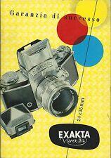 Brochure pubblicitaria  Exakta VarexII 24 x 36 mm - Macchina Fotografica 1957