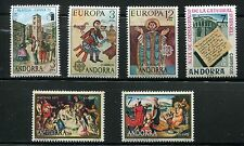 Spanish Andorra 1975 Complete Year Set NH Scott 86 87-88 89 90-91