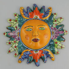 Mexican Talavera  Ceramic Sun Face Wall Decor Hanging Pottery Folk Art  # 20
