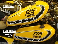 VNTG YAMAHA YZ 125 175 250 360 (customize yours) TANK DECAL KIT w/ install info