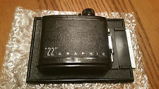 """Speed Graphic """"22"""" 4x5 Roll Film Back"""