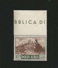 SAN MARINO 1951 POSTA AEREA  VEDUTA VALORE DA 500 LIRE SPLENDIDO E CENTRATO MNH