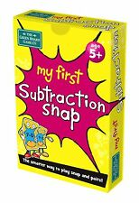 My First Subtraction Snap & Pairs Card Games for Children - Age 5+ g29