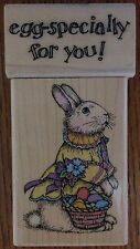 Lot of 2 Easter Victorian Bunny Hero Arts Egg-Specially Phrase Rubber Stamps