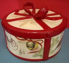 Williams Sonoma Christmas Carols Cookie Jar Marc Lacaze 2011 Round Mint Cond