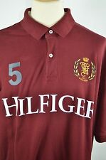 Tommy Hilfiger Men's XXL Polo Rugby Shirt #5 Hilfiger Spell Out Crest