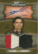 2010 Showcase Jeff Gordon Prized Pieces Ink Gold Fire Suit 3 Color Sn.11/25 SP