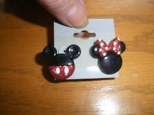MICKEY & MINNIE MOUSE FASHION EARRINGS PIERCED POST HANDMADE