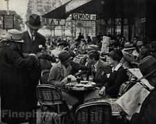 1925/72 Vintage TIHANYI CAFE du DOME Dining Hat Paris Photo Art By ANDRE KERTESZ