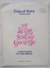 THE KILLING OF SISTER GEORGE.FRANK MARCUS.DUKE OF YORK PROGRAMME 1965.BERYL REID