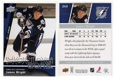 1X JAMES WRIGHT 2009 10 Upper Deck #243 YOUNG GUNS RC Rookie Lots Available
