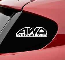 AWD All wheel drive do it vinyl decal sticker bumper funny subaru wrx sti evo