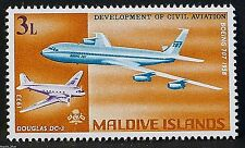 """""""Boeing 707 & Douglas DC-3"""" illustrated on 1968 stamp - Unmounted mint"""