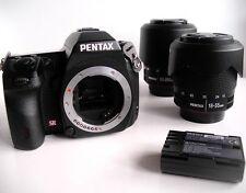 Pentax K-7 14.6MP Digitalkamera mit 18-55mm und 50-200mm Objektiv m.Zubehörpaket