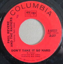 Paul Revere & The Raiders - Don't Take It So Hard, Vinyl, 45rpm, 4-44553, VyGd+