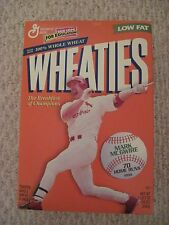MARK MCGWIRE WHEATIES BOX--70 HOMERUN SEASON
