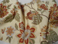 """WAVERLY CREAM/RED FLORAL VALANCE  43""""Wx16""""L"""