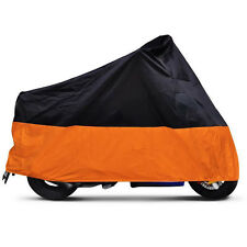 XXL Orange+Black Motorcycle Cover For Harley Davidson Heritage Softail Classic