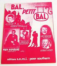 Partition sheet music JO PRIVAT / YVES MONTAND / PATACHOU Bal Petit Bal * 50's
