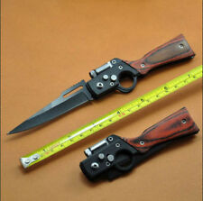 Tactical Folding Blade Knife Survival Hunting Tool Camping Small Knife With LED