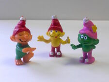 "Vintage 1978 Empire Toys Gnome Family: Orange, Yellow & Green ""Smurf""-like figur"