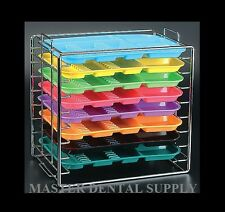 Instruments Set Up Dental Tray RACK Organizer Holds 8 Trays B Size CHROMA