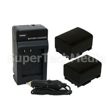 2X BP-808 Battery + Charger + BONUS for Canon Vixia M32 M300 XA10 FS300 FS22