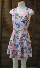 Pink Floral Dress by Timing - Criss Cross Back with Cutout size Medium