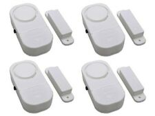 Wireless Door And Window Audible Alarm - 4 Piece Set Security Burgler Loud NEW
