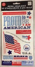 """z4July1172 ME & MY BIG IDEAS Embossed Stickers - 4TH OF JULY  - 10""""x5"""", 5sheets"""