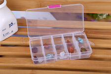 10 Grids Adjustable Jewelry Beads Pills Nail Art Tips Storage Box Case HOTp