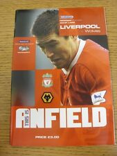20/03/2004 Liverpool v Wolverhampton Wanderers  (Excellent Condition)
